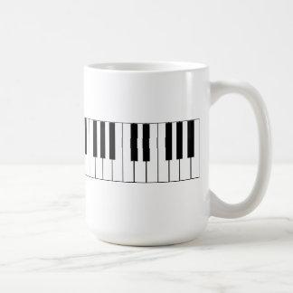 Llaves del piano - taza de café