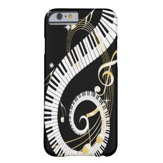 Llaves del piano y caja de oro del iPhone 6 de las Funda De iPhone 6 Barely There