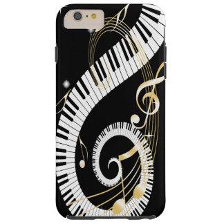 Llaves del piano y caja de oro del iPhone 6 de las Funda Resistente iPhone 6 Plus