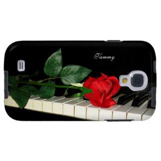 Llaves del piano y galaxia S4 de Samsung del rosa