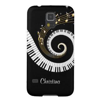 Llaves del piano y notas adaptables de la música carcasa galaxy s5