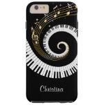 Llaves del piano y notas adaptables de la música funda de iPhone 6 plus tough