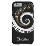 Llaves del piano y notas adaptables de la música funda de iPhone 6 tough