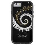 Llaves del piano y notas adaptables de la música funda de iPhone 6 tough xtreme