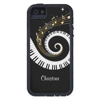 Llaves del piano y notas adaptables de la música funda para iPhone 5 tough xtreme