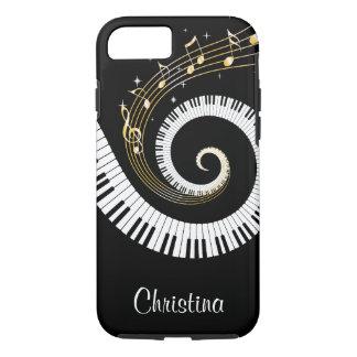 Llaves del piano y notas adaptables de la música funda iPhone 7