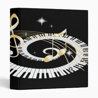 """Llaves del piano y notas de oro de la música carpeta 1"""""""