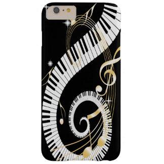 Llaves del piano y notas de oro de la música funda barely there iPhone 6 plus