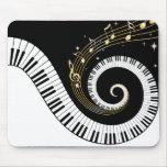 Llaves del piano y notas Mousepads de la música de Tapetes De Raton