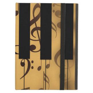 Llaves del piano y notas musicales
