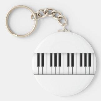 Llaves del teclado/del piano: llavero redondo tipo pin