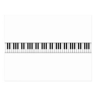 Llaves del teclado/del piano: postales