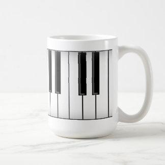 Llaves del teclado/del piano: taza básica blanca