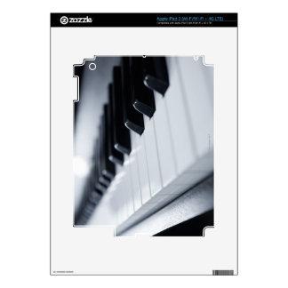 Llaves detalladas del piano pegatina skin para iPad 3