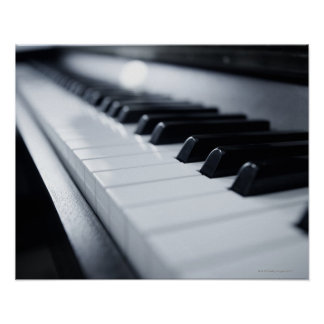 Llaves detalladas del piano póster