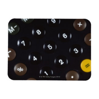 Llaves en una calculadora iman de vinilo