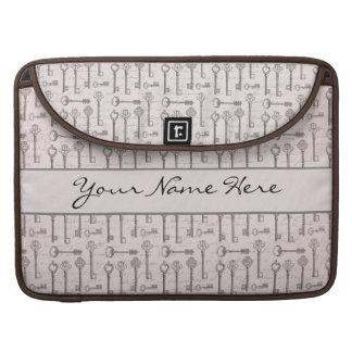 Llaves grises y rosadas elegantes del vintage funda macbook pro