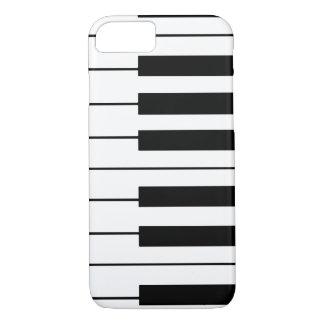 llaves música-temáticas del piano funda iPhone 7