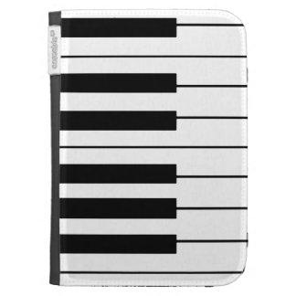 llaves negras/blancas del piano de la música