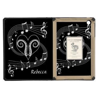 Llaves personalizadas del corazón y del piano de l
