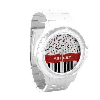 Llaves personalizadas del piano reloj de mano