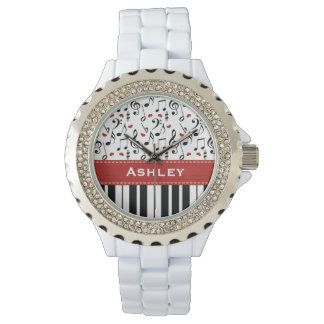 Llaves personalizadas del piano relojes