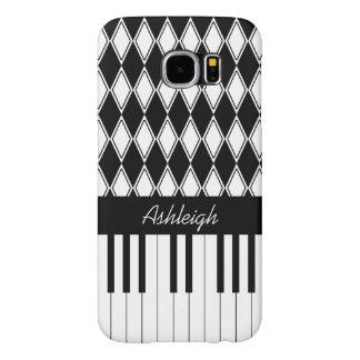 Llaves personalizadas y diamantes del piano fundas samsung galaxy s6