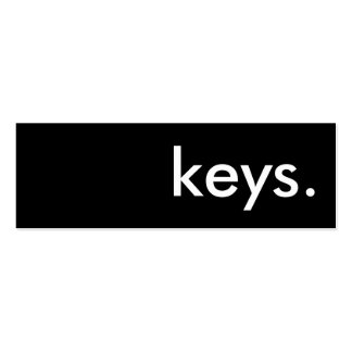 llaves plantilla de tarjeta personal