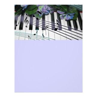 Llaves y flores del piano tarjeta publicitaria