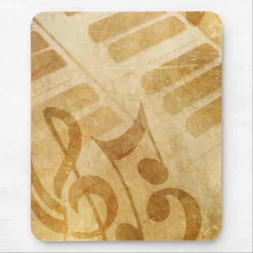 Llaves y música del piano tapetes de ratón