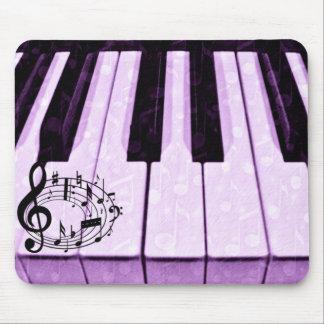 Llaves y música púrpuras Notes_ Alfombrilla De Raton