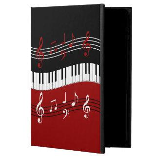 Llaves y notas blancas negras rojas elegantes del