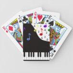 Llaves y notas del piano baraja de cartas
