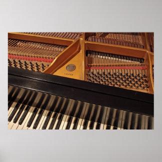 Llaves y Pinblock del piano Poster