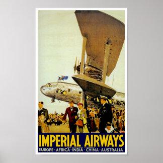 Llegada de Imperial Airways Póster
