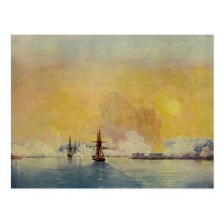 Llegada de Ivan Aivazovsky- en la bahía de Sevasto Postal