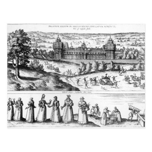Llegada de la reina Elizabeth I Postales