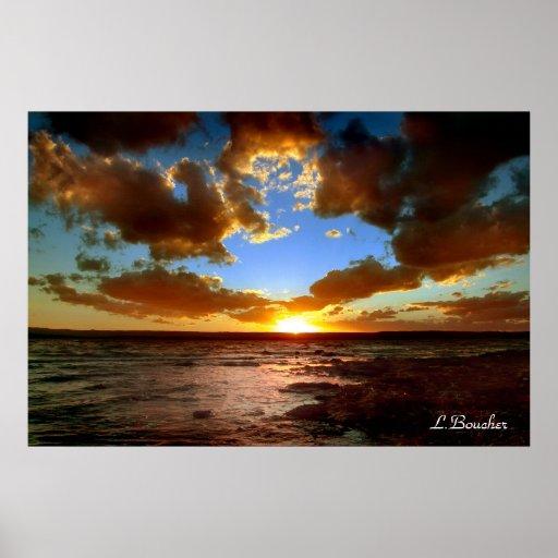 Llegada de las tormentas, L.Boucher Posters