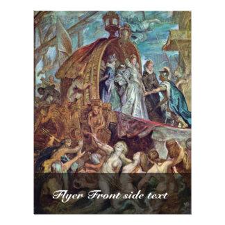 Llegada de Marie De Medici In el puerto de Marseil Tarjeta Publicitaria