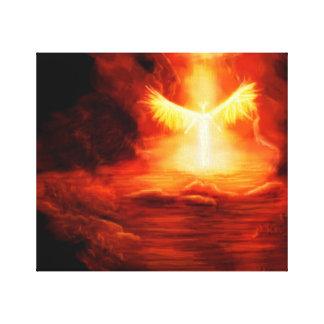 Llegada de un ángel lienzo envuelto para galerias