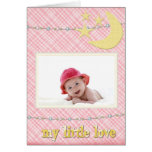 Llegada del bebé - es un chica - mi poco amor tarjeta