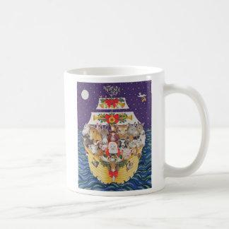Llegada del navidad taza de café