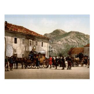 Llegada del poste Cetinje Montenegro Postal