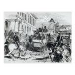 Llegada del transporte del gobierno tarjetas postales