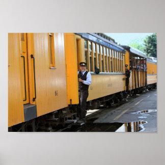 Llegada el depósito de tren de Durango Póster