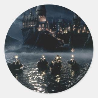 Llegada en Hogwarts Pegatina Redonda