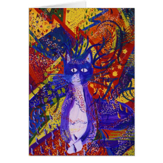 Llegada - fiesta moderno abstracto del amor tarjeta de felicitación
