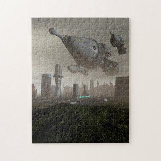 Llegada gigante 2 de la nave espacial puzzle con fotos