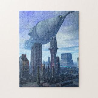 Llegada gigante de la nave espacial puzzle con fotos