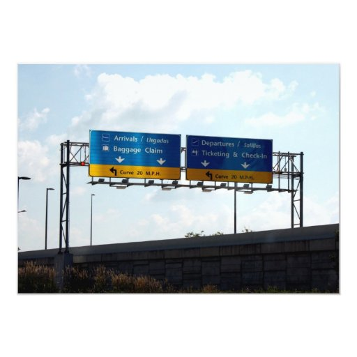 Llegadas y salidas del aeropuerto del IND Invitación Personalizada